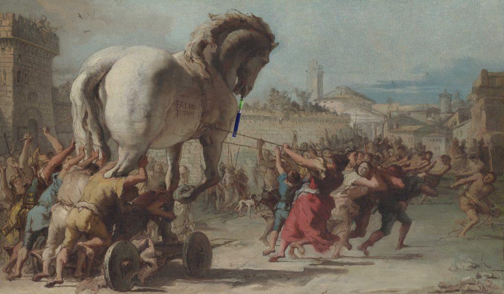 Trojanisches Pferd raucht was